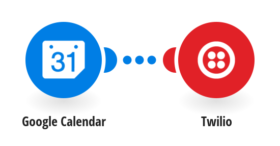 Send Twilio SMS messages for new Google calendar events