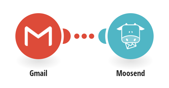 Create a new subscriber in Moosend with e-mail of a sender from Gmail