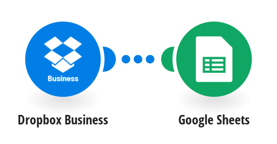 Create a list in Google Sheets spreadsheet with team members in Dropbox Business