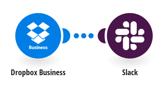 Send a notification about a new team member in Dropbox Business to Slack