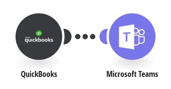 Send a message about a new event in QuickBooks to Microsoft Teams