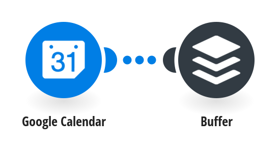Buffer new Google calendar events
