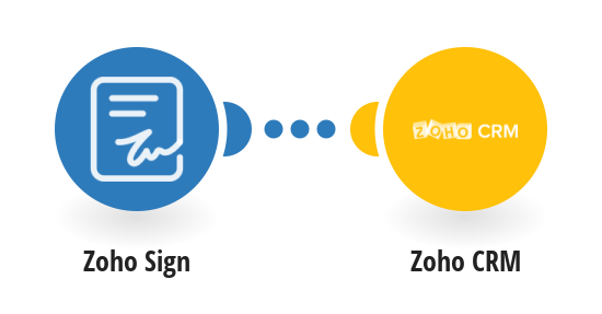 Create Zoho CRM deals from new Zoho Sign documents