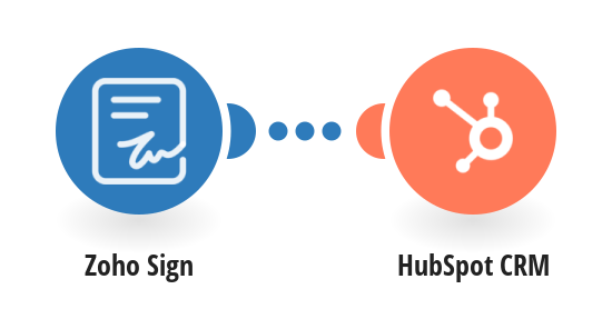 Create deals in Hubspot CRM from new Zoho Sign documents