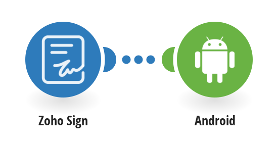 Send a Push Notification to your Android Device when a prospect opens a Zoho Sign document