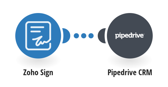Create Pipedrive CRM deals when a new Zoho Sign is completed