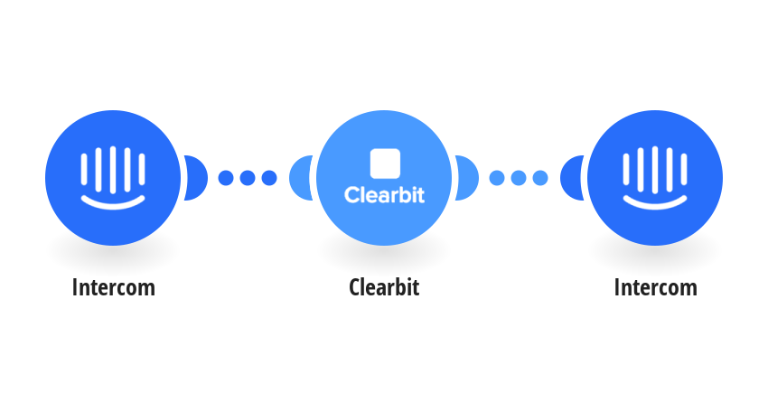 Qualify new leads from Intercom based on Clearbit metrics