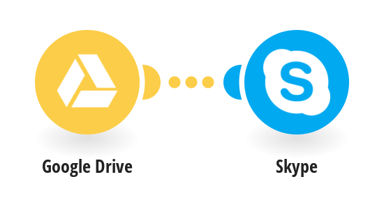 Send a Skype message when a new file is added to Google Drive