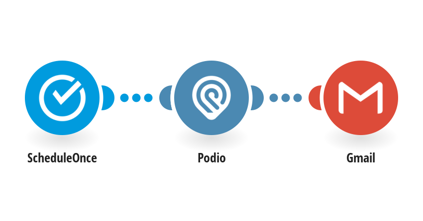 Create Podio tasks from ScheduleOne appointments and send an email with Gmail