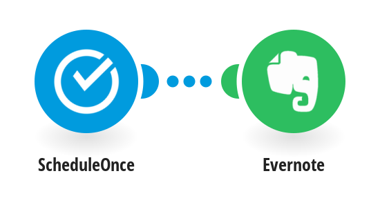 Create new note with Evernote when a meeting is booked with ScheduleOnce