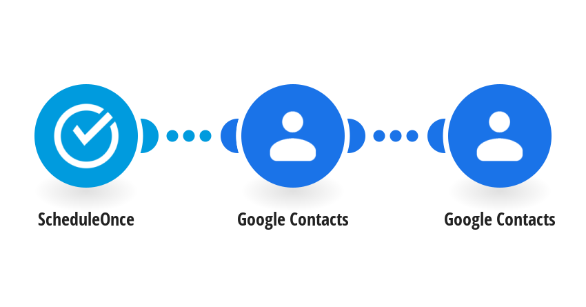 Add a contact to Google Contacts when an appointment is booked with ScheduleOnce