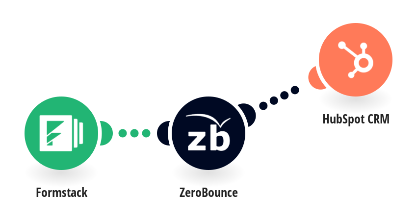 Create contacts on HubSpot CRM from Formstack responses after validating the email with ZeroBounce