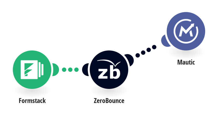 Create contacts on Mautic from Formstack responses after validating the email with ZeroBounce