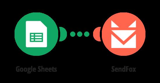 Import new Google Sheets row as a SendFox contact