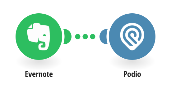 Create Podio tasks from new Evernote notes