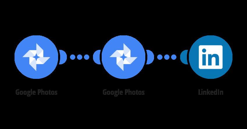 Share new Google Photos media on Linkedin