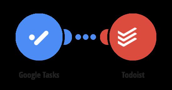 Add new Google tasksto Todoist as tasks