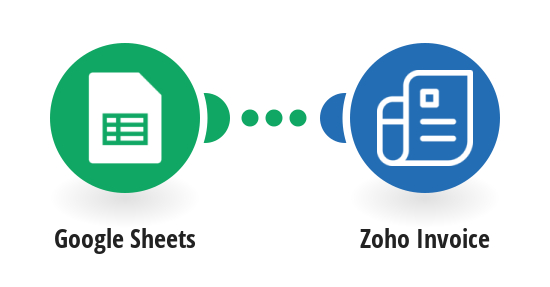 Create new Zoho invoices from Google Sheet rows