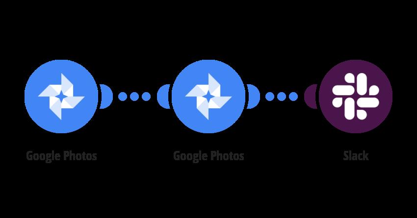 Zaslání nové fotografie/videa z Google Photos na Slack