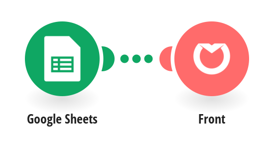 Create Front messages from Google Sheets rows