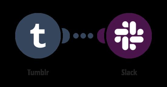 Zpráva na Slack o novém článku na Tumblru
