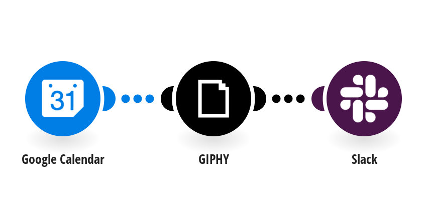 Create GIF using GIPHY from Google Calendar events and send a message on Slack