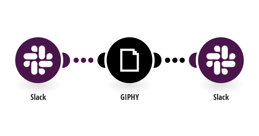 Translate a word to GIF with GIPHY when a new user joins Slack and send it in a message