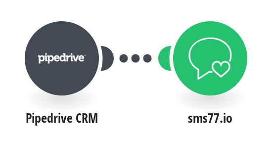 Send an SMS with sms77.io when a Pipedrive deal reaches a specific stage
