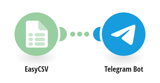 Create Telegram messages from EasyCSV