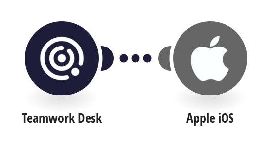 Send push notifications to an Apple device when a new ticket is created on Tweamwork Desk