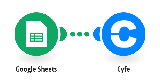 Push Google Sheets values to Cyfe