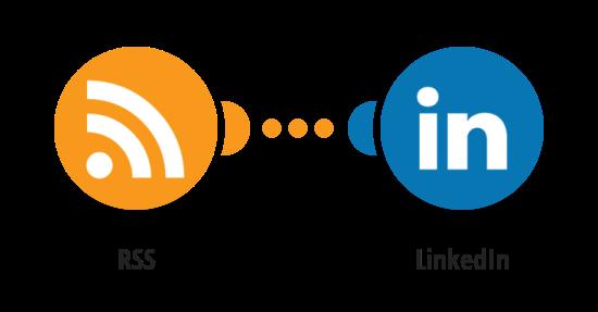 Příspěvek na LinkedIn o novém článku na RSS kanále