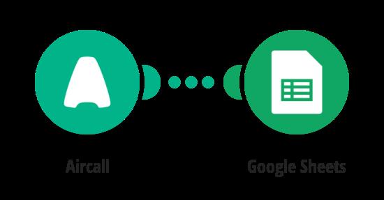 LogyourAircall data in Google Sheets