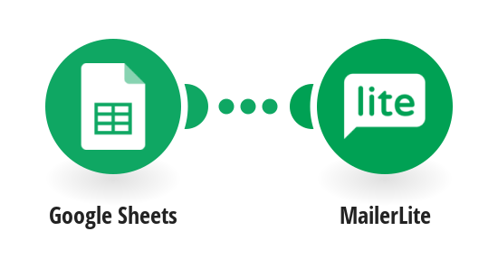 Create MailerLite subscribers from Google Sheets rows.