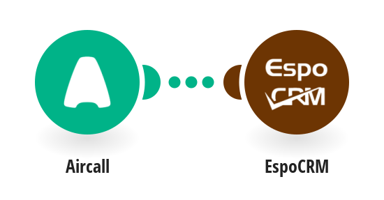 Create EspoCRM calls from new Aircall calls