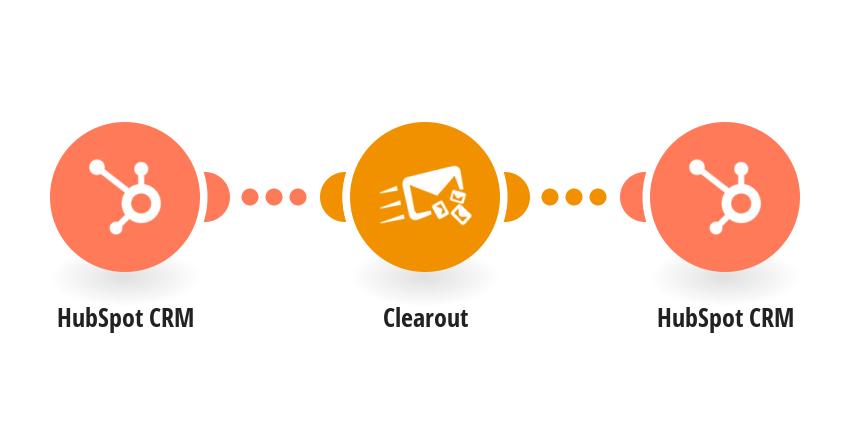 Watch HubSpot CRM contacts and verify emails using Clearout