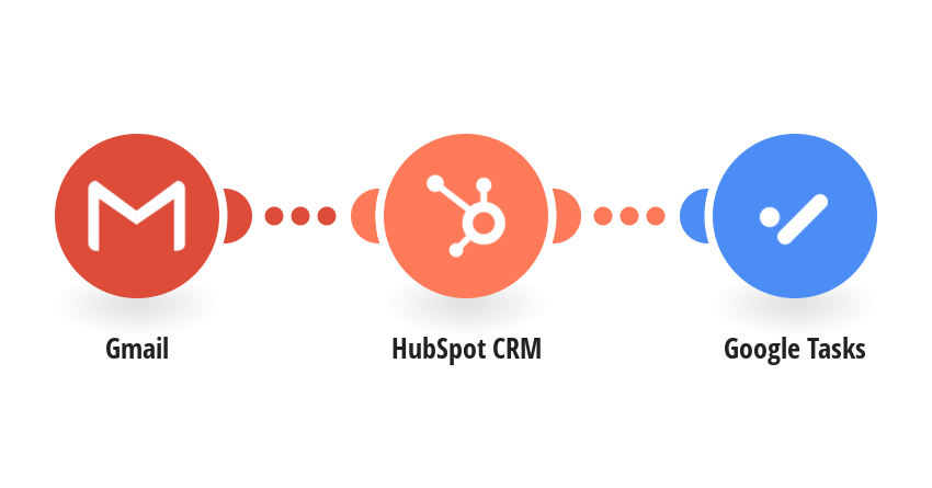 Create a new Task in Google Tasks for new received e-mail in HubSpot (Gmail)