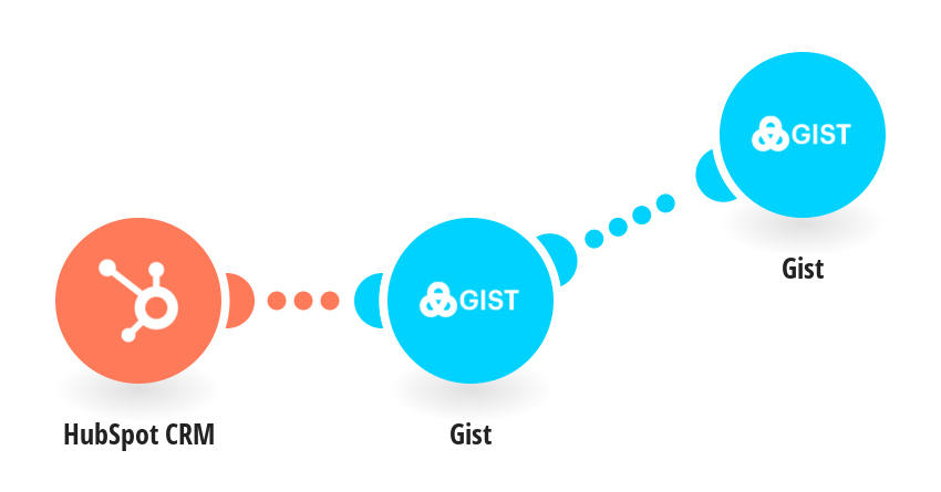 Create Gist leads from HubSpot CRM contacts