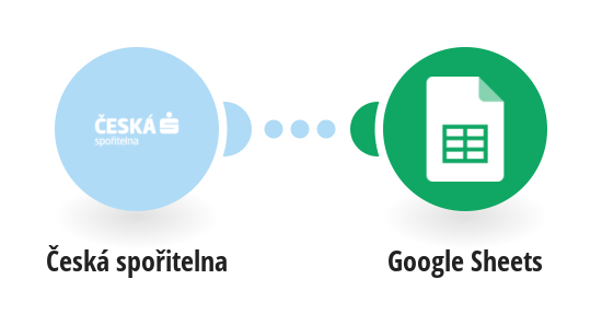 Save automatically incoming payments from Ceska Sporitelna account to Google Sheets
