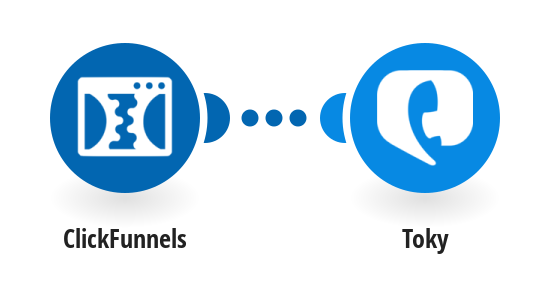 Send an SMS with Toky for new ClickFunnels purchases