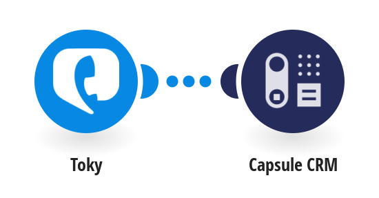 Register notes in Capsule CRM new Toky calls