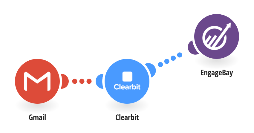 Create new companies in EngageBay from email domains retrieved from Clearbit