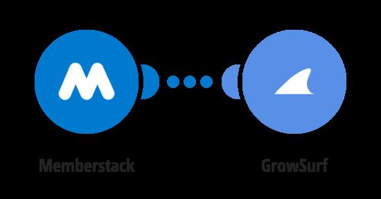 Trigger GrowSurf referrals from new Memberstack members