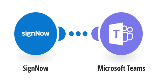 Send Microsoft Teams messages for new SignNow events