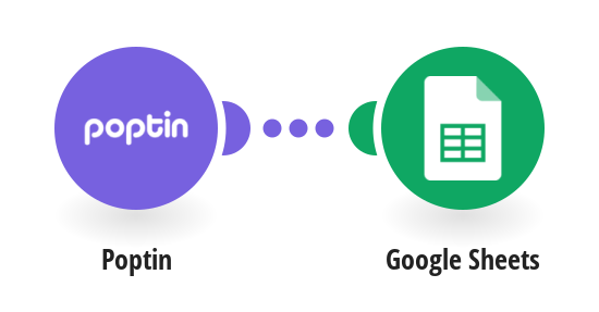 Add Google Sheets rows from new Poptin leads