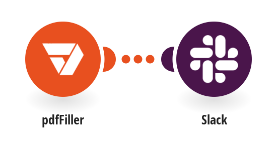 Send Slack messages for new pdfFiller filled forms