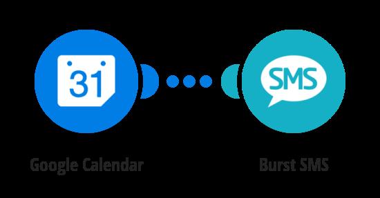 Send Burst SMS messages for Google Calendar events
