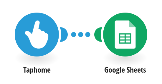 Add rows to a Google Sheet from Taphome device values