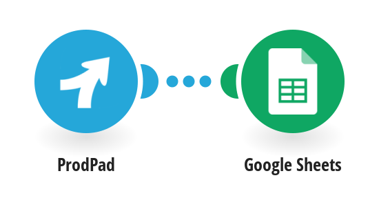 Add a new row in Google Sheets for a new idea in ProdPad