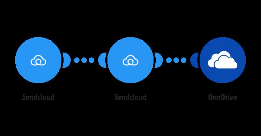 Upload Sendcloud labels to OneDrive